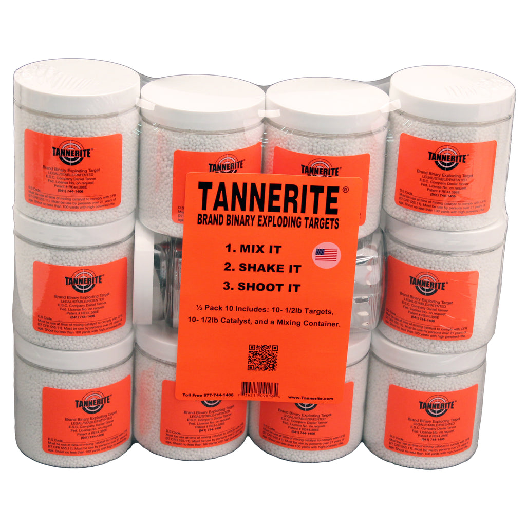 Tannerite 10 pack of 1/2-lb Targets binary exploding explosive rifle target
