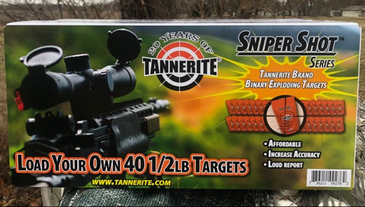 Sniper Shot series Tannerite® Brand Binary Exploding Targets