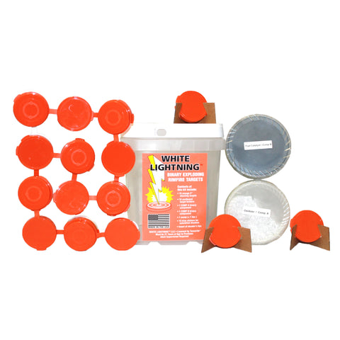 Image of tannerite white lightning 22 rimfire kit targets