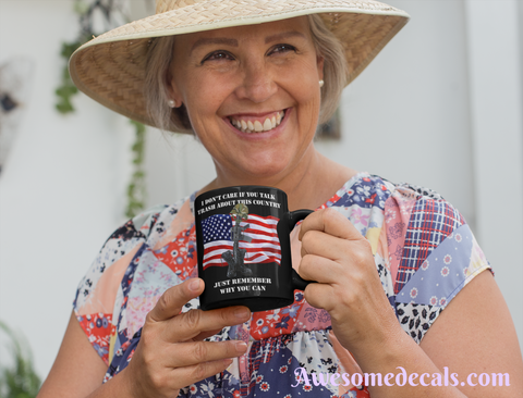 Image of thank a soldier usa patriotic mug
