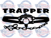 Trapper closed trap vinyl decal for trapping car truck suv window
