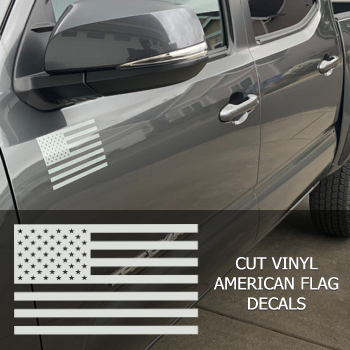 cut vinyl american flag vinyl decal sticker