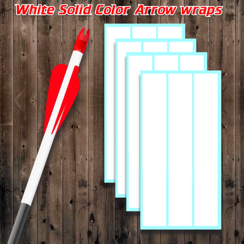Image of white vinyl arrow wraps