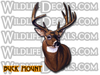 Big Whitetail Buck mount shoulder style vinyl decal