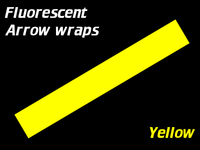 yellow fluorescent arrow wraps