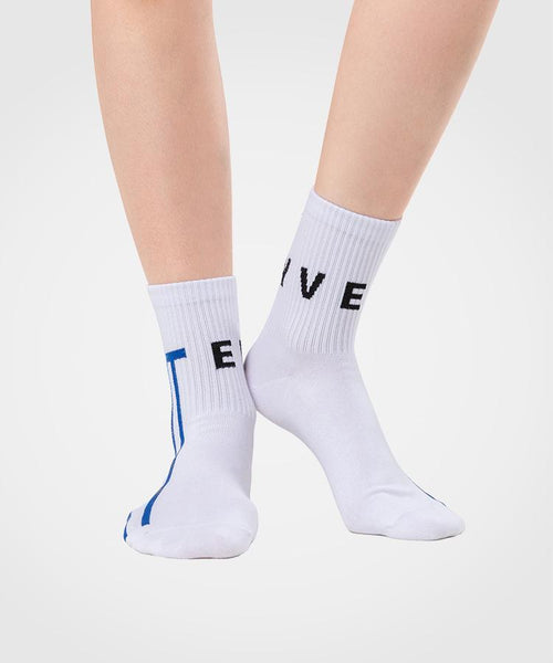 Yvette Multi-colored | Women's Crew Socks