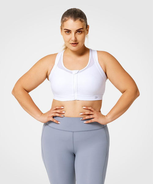 Limitless Front Zip Basic | Women's High Support Sports Bra (Plus Size)