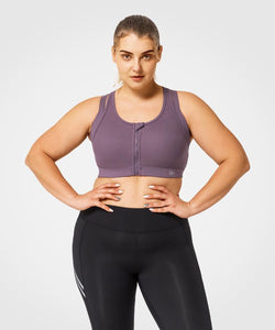 Limitless Front Zip | Women's High Support Sports Bra  (Plus Size)