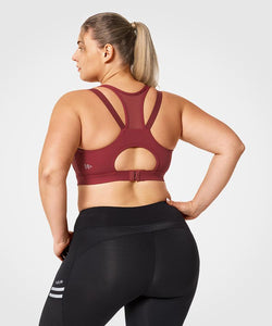 Pull Up With A Zip | Women's High Support Sports Bra (Plus Size)