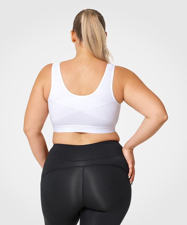 Limitless White Space | Women's High Support Sports Bra (Plus Size)