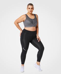 Infinite Me Grey | Women's High Support Running Sports Bra (Plus Size)
