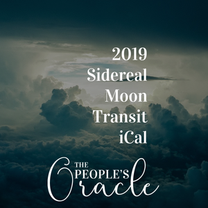 2019 Sidereal Moon Transits iCal