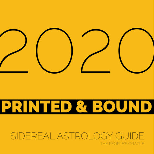 2020 Sidereal Astrology Guide (PRINTED & BOUND)