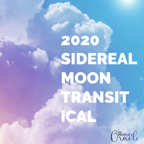 2020 Sidereal Moon Transits iCal