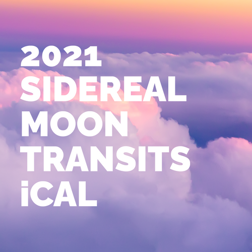 2021 Sidereal Moon Transits iCal