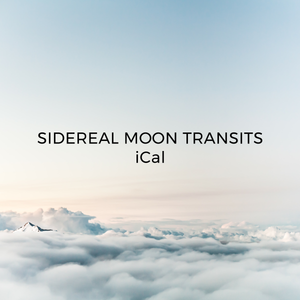 Sidereal Moon Transits iCal