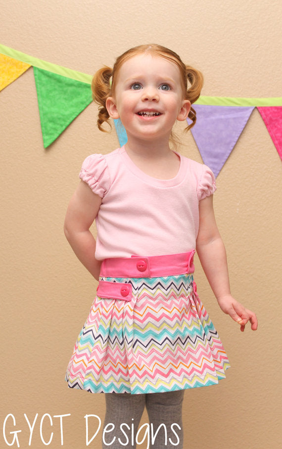 Tally Pleated Skirt & Shorts PDF Pattern