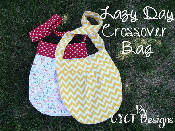 Lazy Day Crossover Bag PDF Pattern