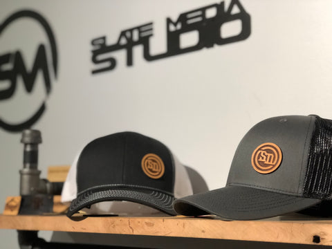Leather SD Patch Snap Back Hats