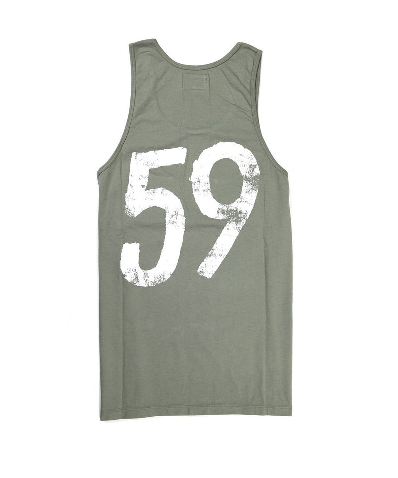 Men Top Tank - Army Green