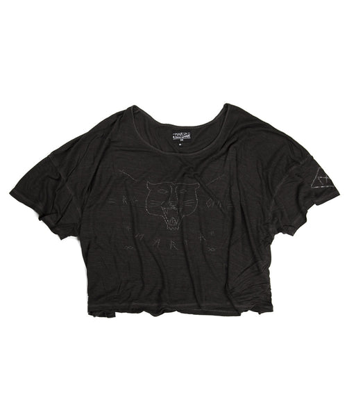 Women Lucky Looser T-Shirt - Black