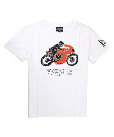 Men Skull Racer T-Shirt - White