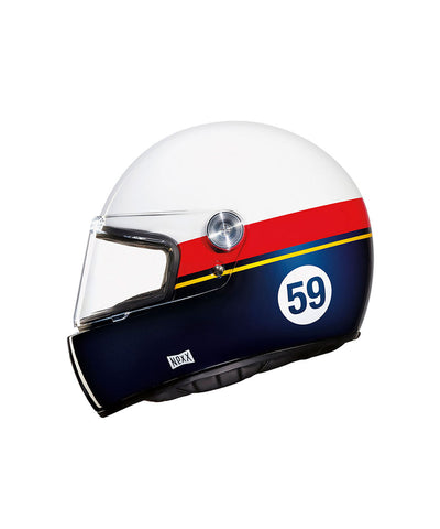 Grandwin - White/Blue - Full Face Racer Helmet