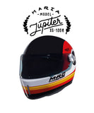 Jupiter - Red - Full Face Racer Helmet