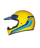 Desert Race - Yellow/Blue - Off Road Helmet