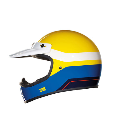 Dirt Fever - Yellow/Blue - Off Road Helmet