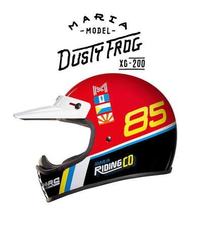 Dusty Frog - Red - Off Road Helmet