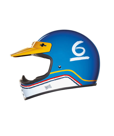 Flat 6 - Blue/White - Off Road Helmet