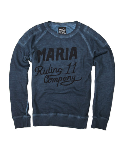 Men Mechanic Heavyweight Sweatshirt- BLUE