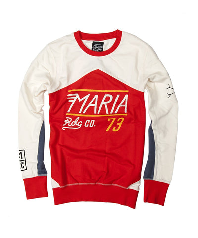 Men Racing Team Sweatshirt - Red