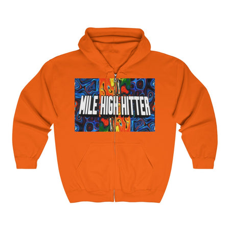 Unisex Heavy Blend™ Full Zip Hooded Sweatshirt | Mile High Hitter Club