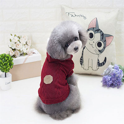 Knit Pet Hooded Sweater