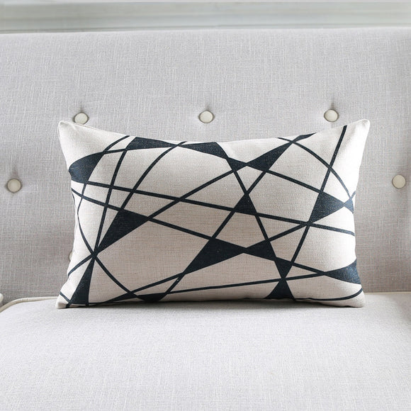 Black Sparkle Rectangle Cushion Cover