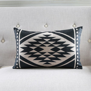 Adelaide Ace Black Rectangle Cushion Cover