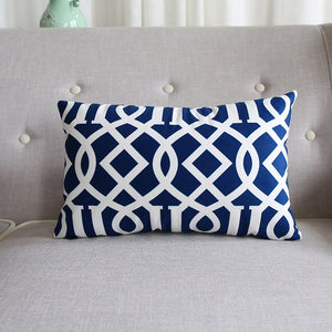 Abigail Royal Blue Rectangle Cushion Cover