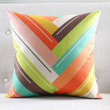 Big Colorful Waves Cushion Cover