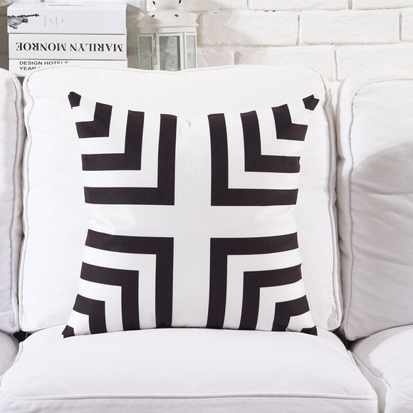 Black Connectors Cushion cover