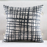 Black Crosses Cushion cover