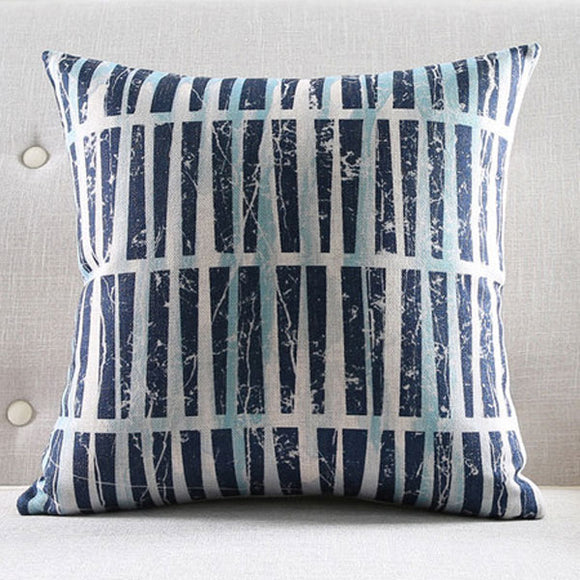 Blue Four Cushion Cover