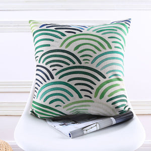 Blue Green Dunes Cushion cover