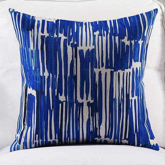 Blue Lines Cushion cover