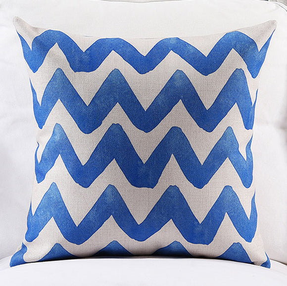 Blue Waves Cushion Cover