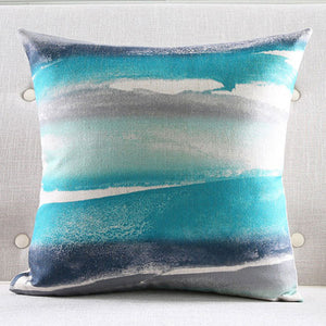 Caves Blue Cushion cover