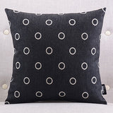 Circular Black Cushion cover