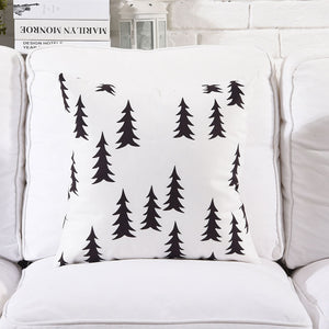 Conifer Black and White Cushion cover