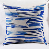 Elegant brush paint Cushion cover